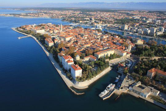zadar, panorama, croatia