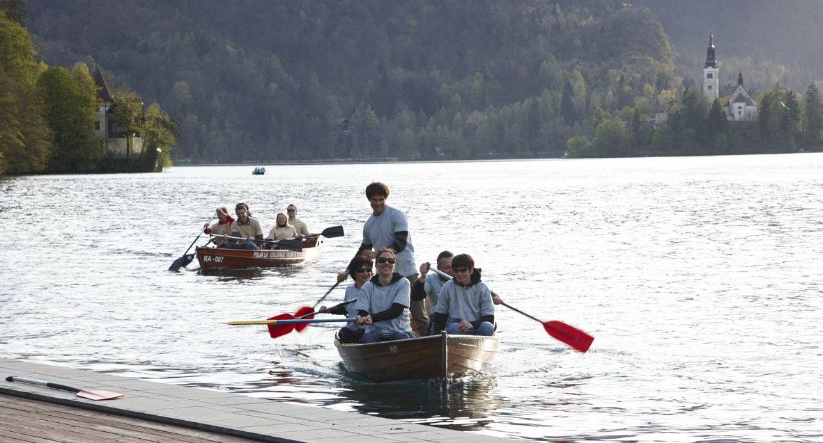 paddling, lake bled, slovenia