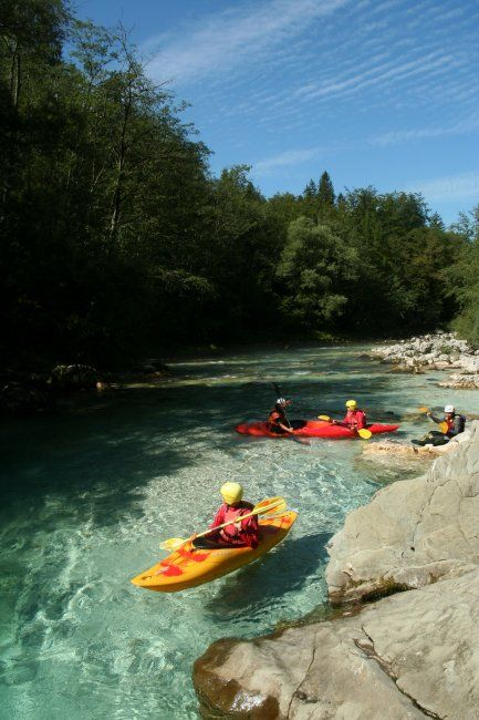 short, cayaking, soča, river, slovenia
