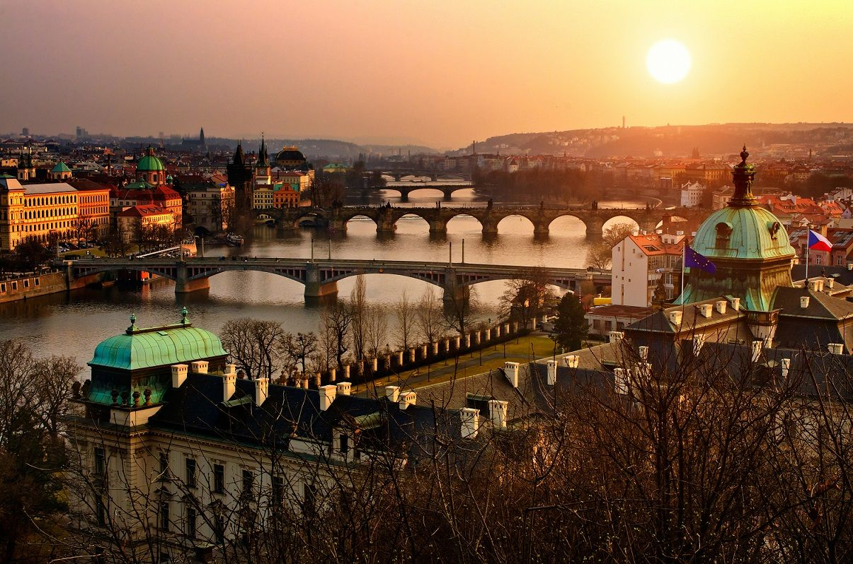 prague, bridges