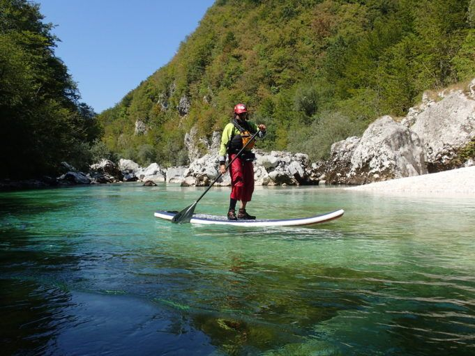 sup-on-soča-river