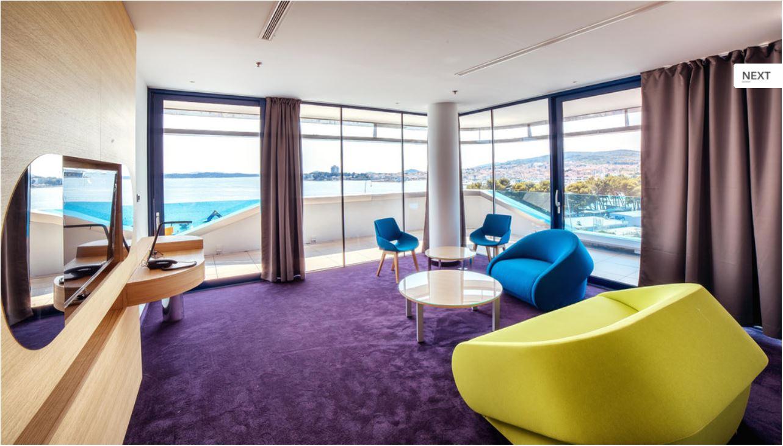 the most modern hotel in croatia shaped like a luxury cruiser