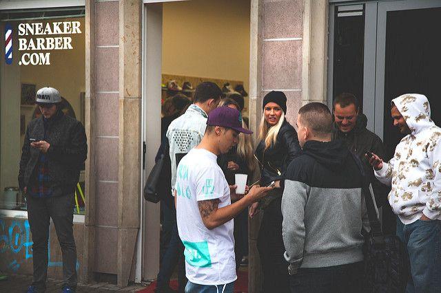 Sneaker Barber pop-up store