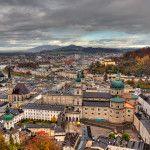 salzburg, aerial, view