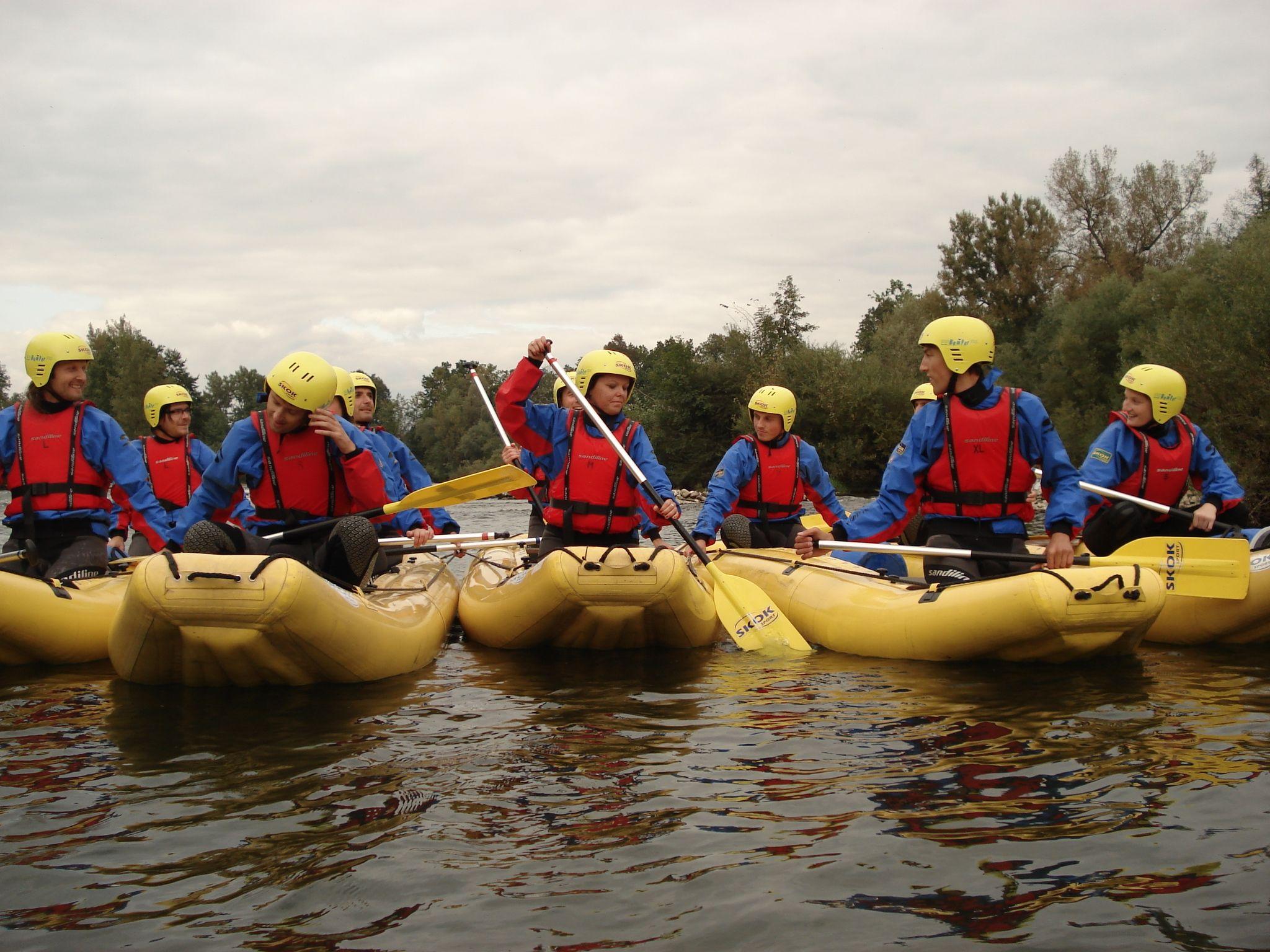 rafting, team, challenge, outdoor