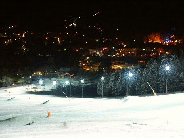 night, sledding