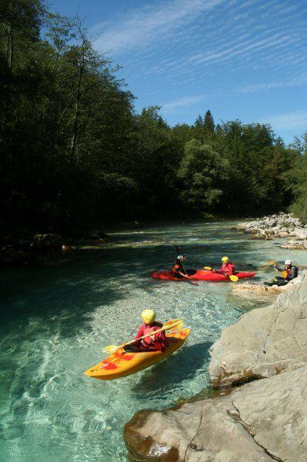 short, cayaking, soča, river, slovenia