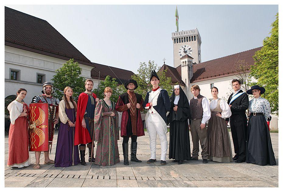 time, machine, ljubljana, slovenia, castle