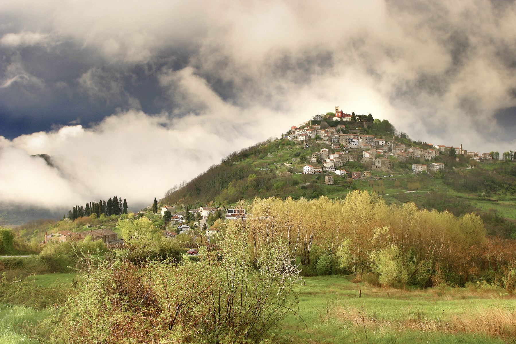 medieval, istrian, hilltop, towns