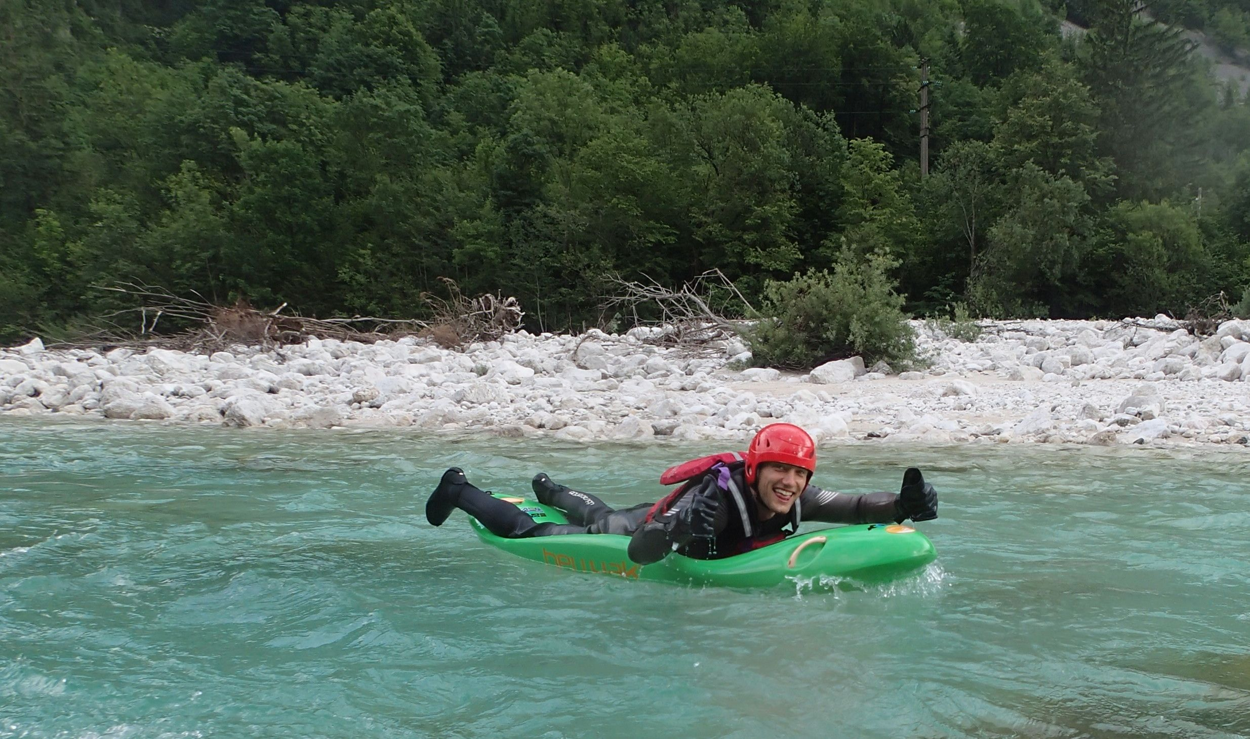 bellyak, soča, river
