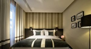 Hotel Slon's luxuriously appointed Deluxe Rooms