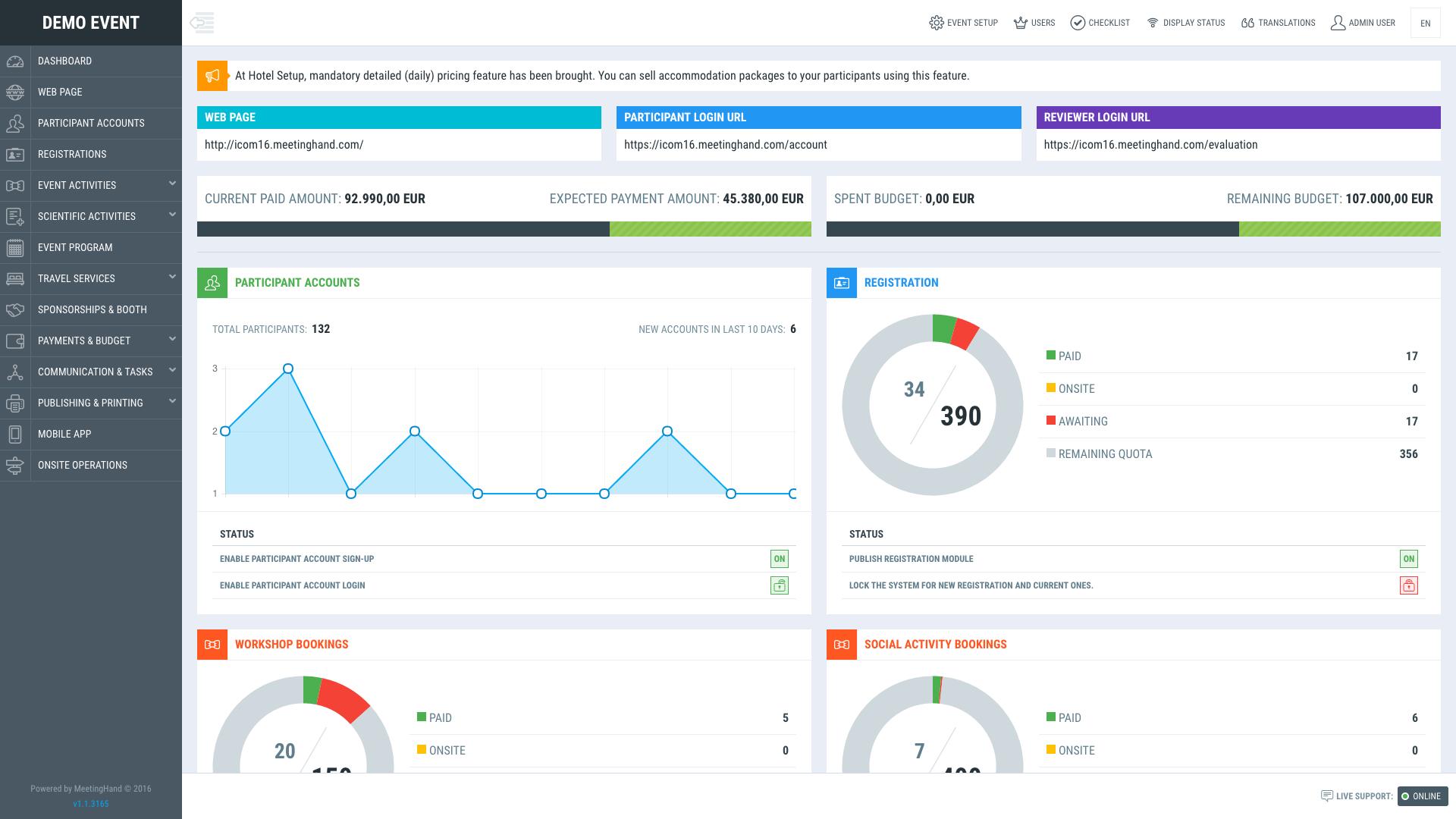 Meetinghand Online Event Management Software Kongres Europe
