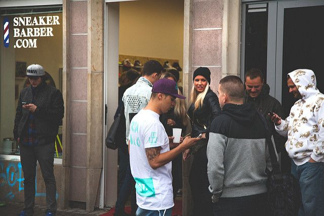 Sneaker Barber pop-up store