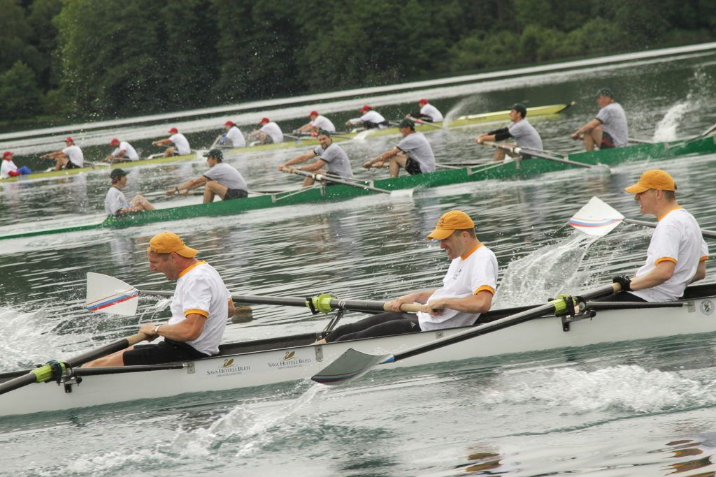 Rowing with Olympians