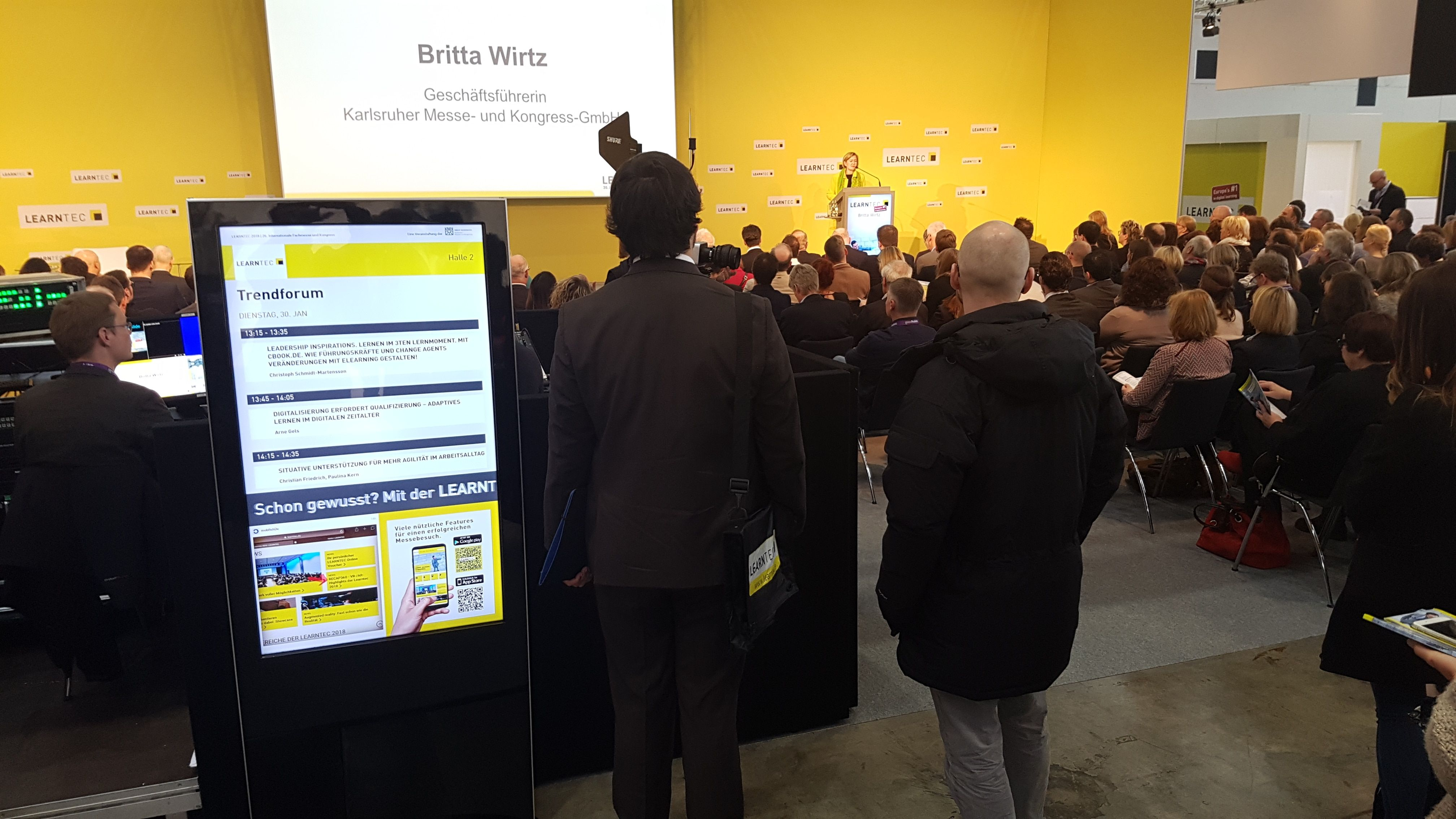 Digital signage at Learntec 2018 - KONGRES – Europe Events