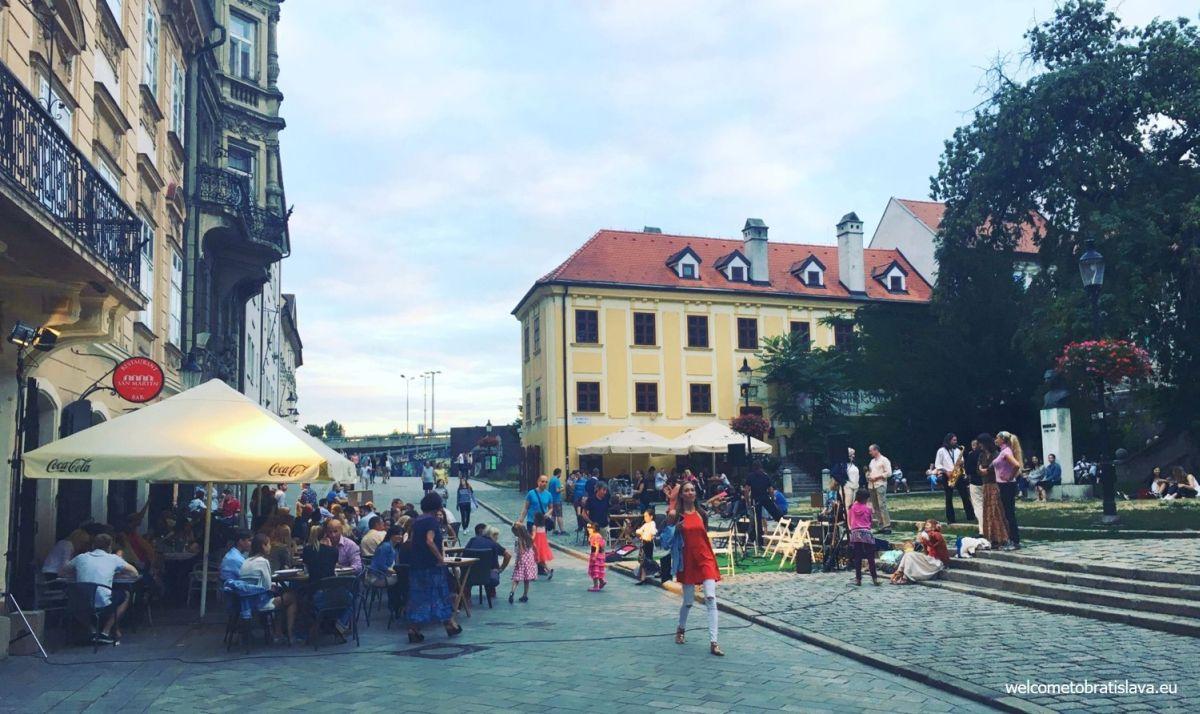 St. Martin sqaure Bratislava