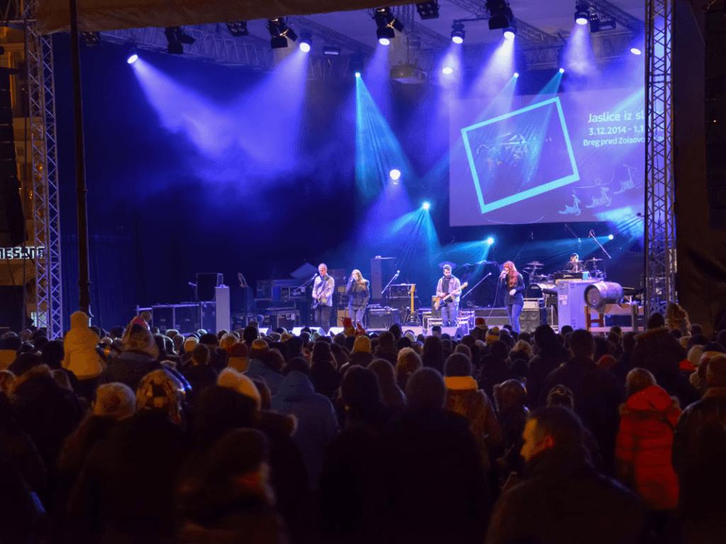 Ljubljana New Year Eve Kongresni trg Square concert