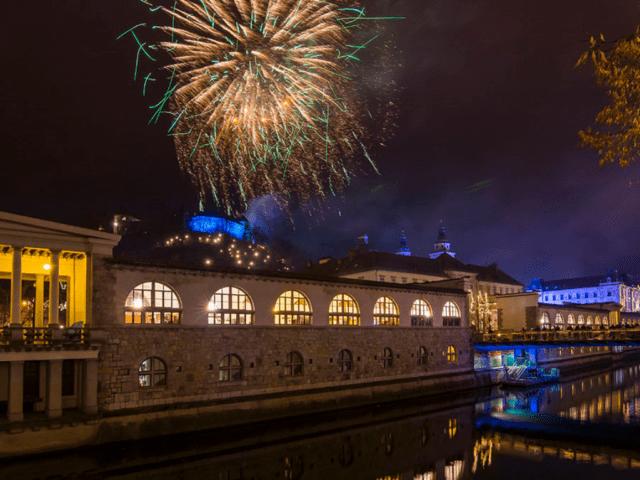 Ljubljana New Year Eve Fireworks