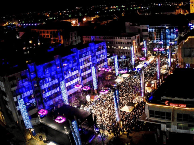 Maribor New Year Trg Leona Stuklja Square