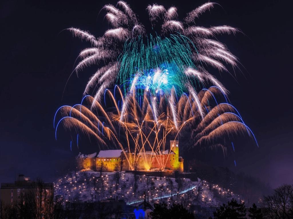 Ljubljana december fireworks