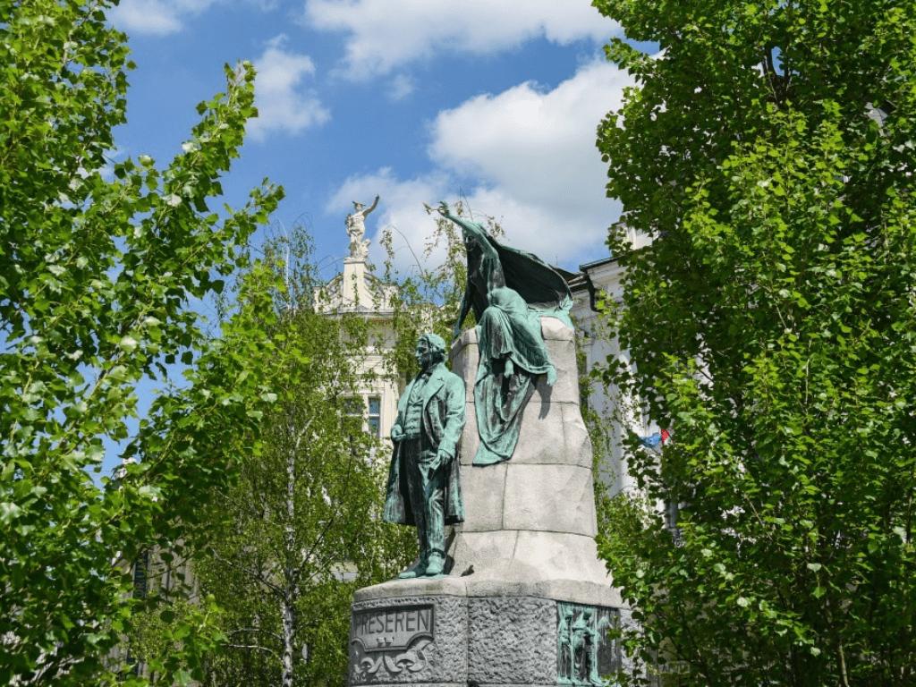 Ljubljana France Preseren Square