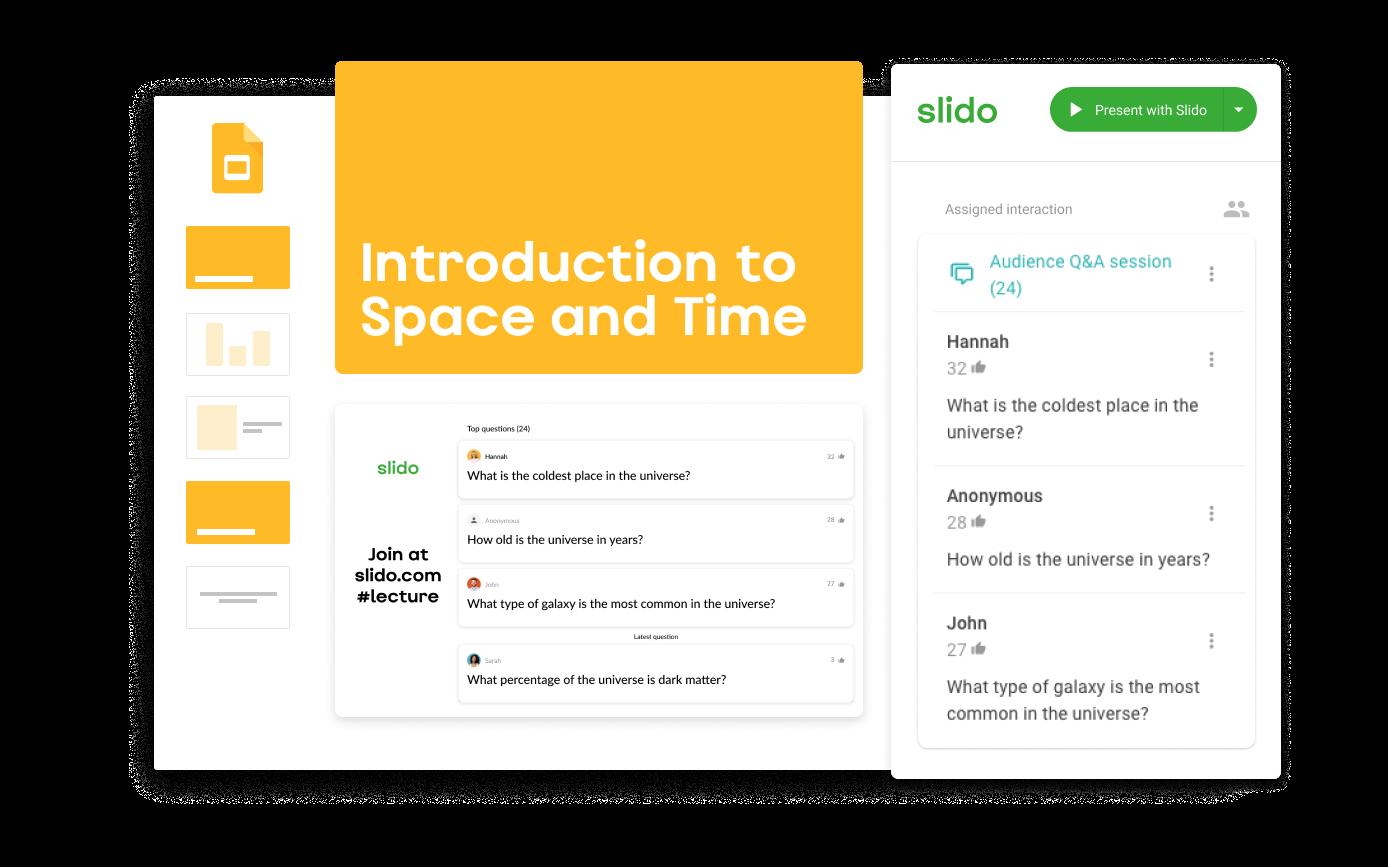Slido Google Slides integration