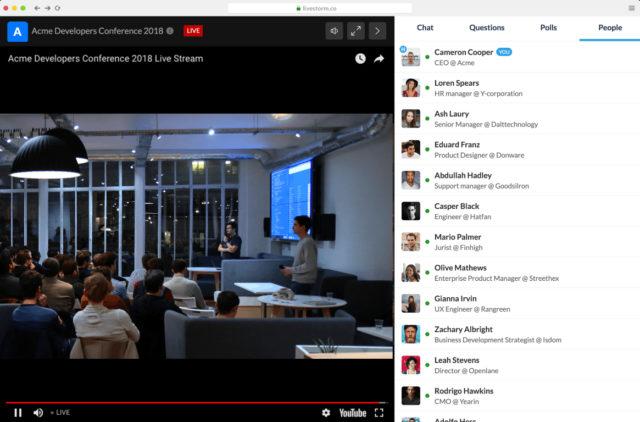 Virtual meetings software - Livestorm