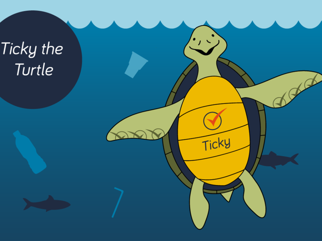 IAPCO Ticky the Turtle Plastics Pledge