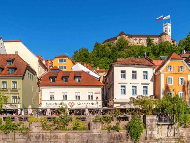 ljubljana castle river bank