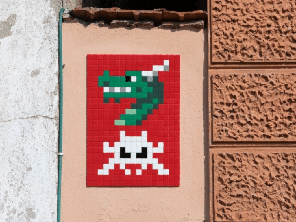 invader space dragon ljubljana