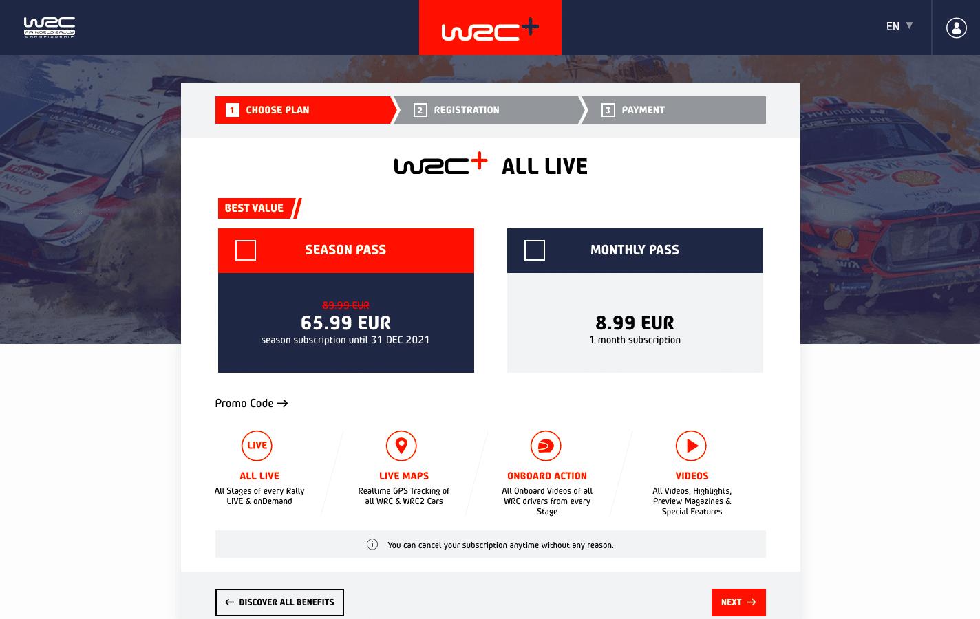 WRC All Live season pass