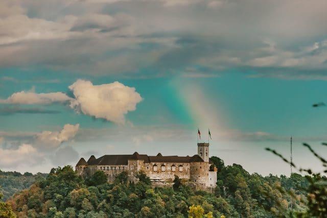 ljubljana castle rainbow pink week