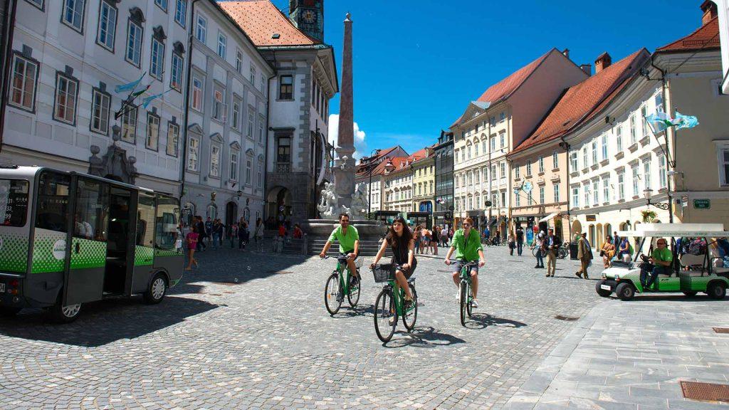 cycling ljubljana centre